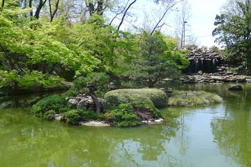 Waterfall of Fort Worth Japanese Garden