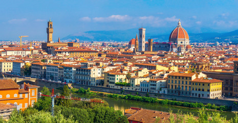 Cityscape of Florence, Italy. Italian Firenze city Wall mural