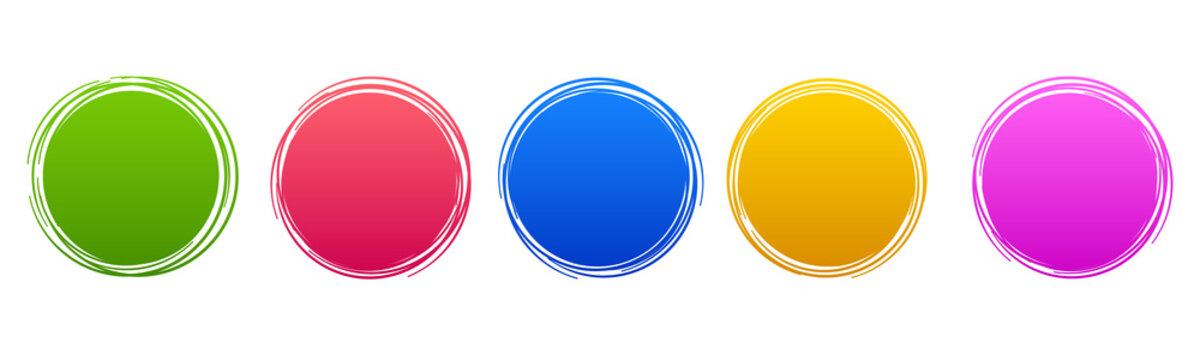 Set circle button – stock vector