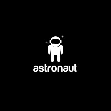 Astronaut Logo Design Vector Template