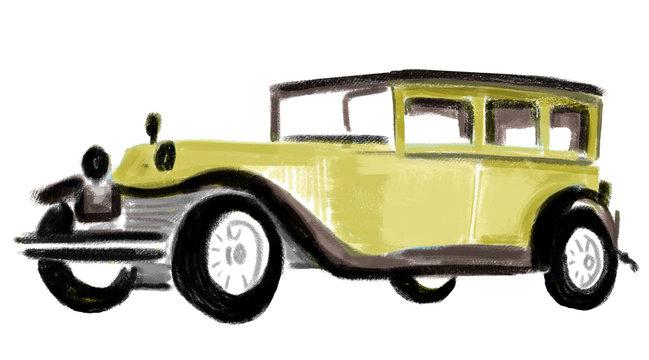illustration of 1920s vehicle