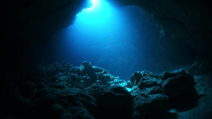 Wall Mural - Underwater cave