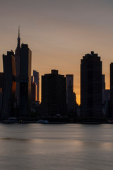 Midtown manhattan From east river with long exposure