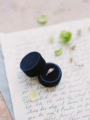 Beautiful ring in a ring box