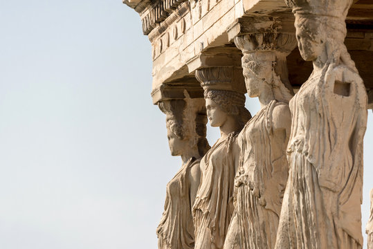 Detail of Erechtheion temple, Athens, Greece