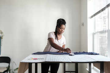 Women working with fabric