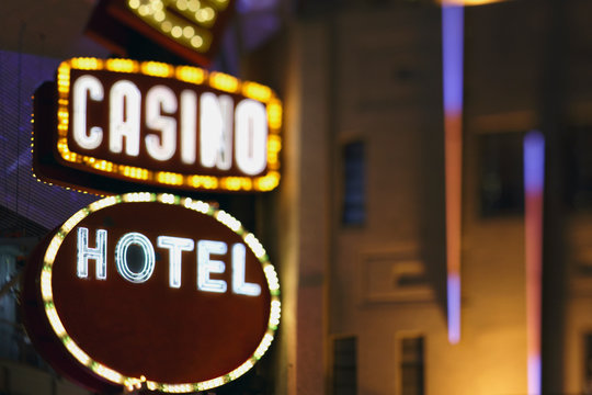 Neon Casino and hotel sign