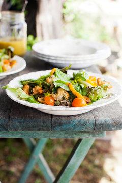 Salad on Farm Table