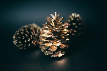 Golden pinecones