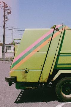 Cute garbage truck