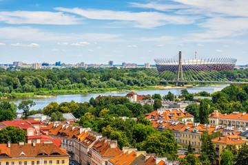 Warsaw Cityscape Along Vistula River