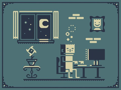 Screenstruck illustration about nightly computing
