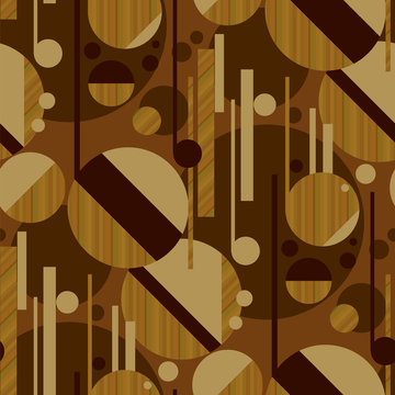 Sophisticated geometric pattern with wood texture
