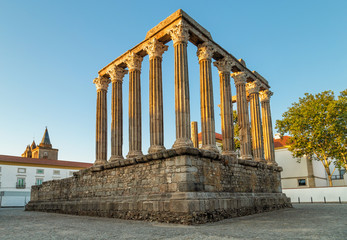 The Roman Temple of Evora, also referred to as the Templo de Diana is an ancient temple in the Portuguese city of Evora
