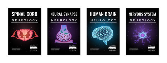 Neurology Glowing Banners Set
