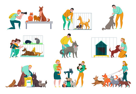 People With Animals Set
