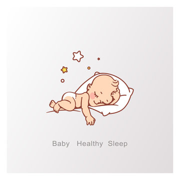 Cute little baby boy or girl sleeping.