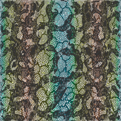 Colorful background  snake skin texture. Vector illustration.