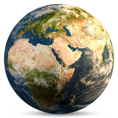 Wall Mural - Planet Earth continents
