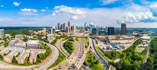 Atlanta, Georgia, USA Downtown Skyline Aerial Panorama Fototapete