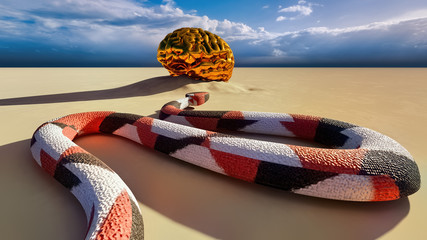 Snake and Mind - creative concept 3 rendering