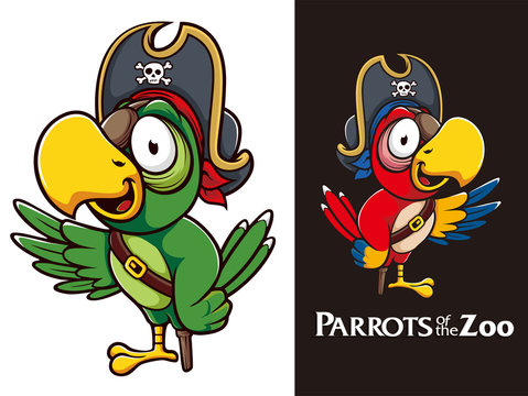 Pirates Parrots Bird Mascot