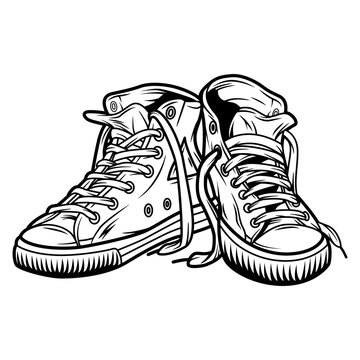 Vintage casual sneakers concept