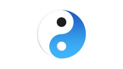 Yin Yang white and blue. Harmony water.