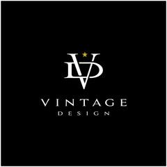 Elegant Luxury Initials Monogram V and D logo design