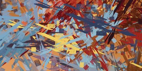 Fotobehang Nepal Modern art. Artistic brush. Oil painting. 2d illustration. Texture backdrop.