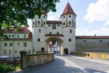 Nabburger gate in the city Amberg in Bavaria Germany