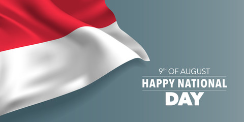 Singapore happy national day greeting card, banner with template text vector illustration Fototapete