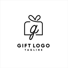gift logo vector graphic template download premium