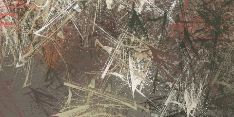 Printed kitchen splashbacks Nasa Modern art. Artistic brush. Oil painting. 2d illustration. Texture backdrop.