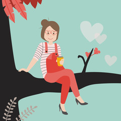 Kaffee im Baum