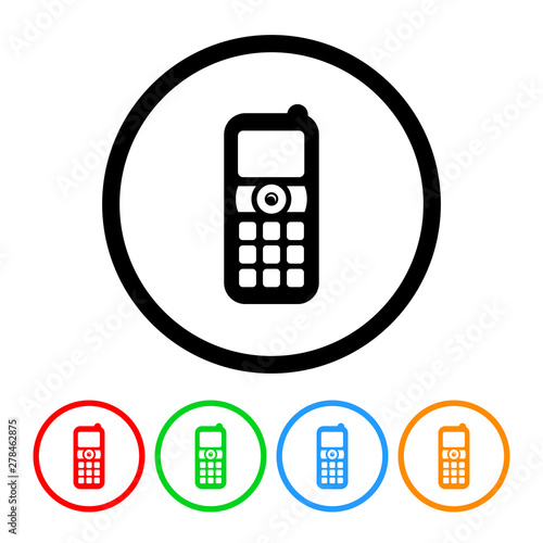 Cell Phone Icon >> Classic Cell Phone Icon Vector Phone Illustration Design