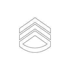 rank in epaulettes icon. Element of army for mobile concept and web apps icon. Outline, thin line icon for website design and development, app development