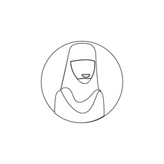 avatar of Priest icon. Element of avatar for mobile concept and web apps icon. Outline, thin line icon for website design and development, app development