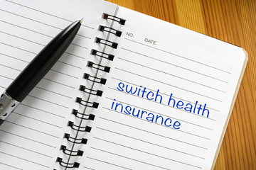 Note: switch health insurance