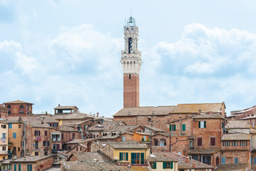 Wall Mural - Skyline of historical city Siena in Tascany, Italy