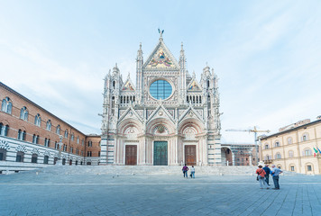 Fotomurales - Church Cattedrale di Siena in historical city Siena, Tuscany, Italy