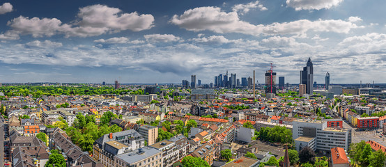 frankfurt city seen from north