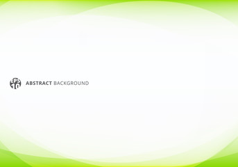 Abstract template elegant header and footers green lime curve light template on white background with copy space. Wall mural