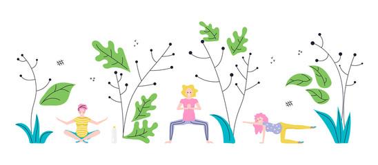 Prenatal yoga training square banner