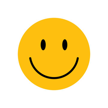 The emoji yellow face with smile