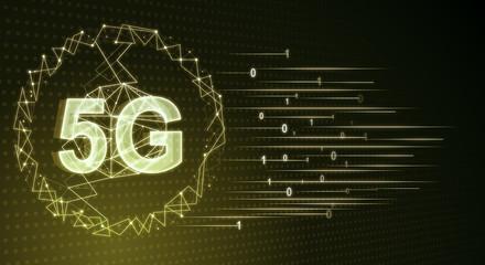 Glowing yellow 5G net