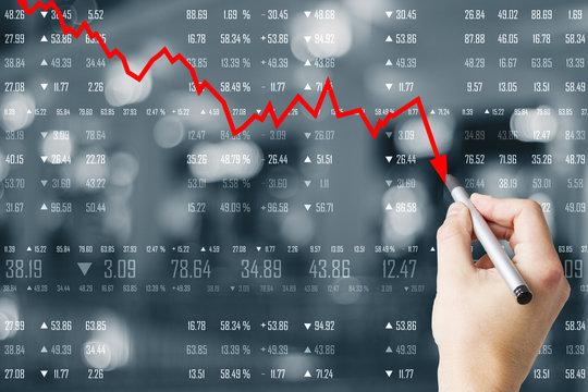 Decrease, stats and economy concept