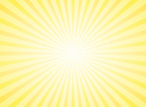 Sunlight abstract background. Powder yellow color burst background.