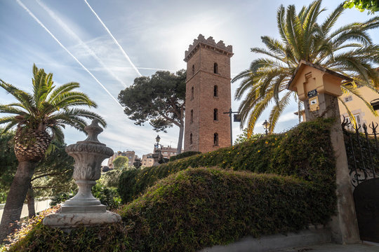 Public garden park, Parc Can Buxeres in Hospitalet de Llobregat, Catalonia, Spain.