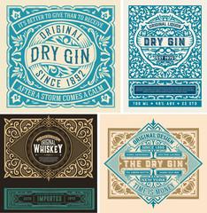 Set of liquor labes. vector layered